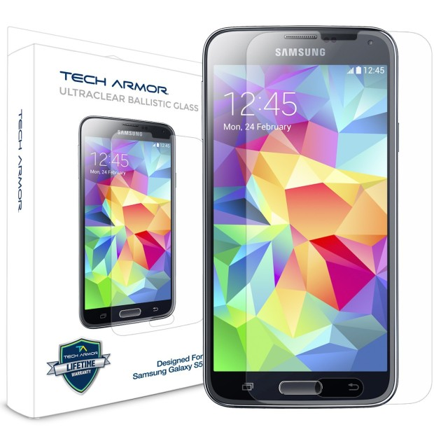 Защитная пленка для Galaxy S5 - Tech Armor Ballistic Glass