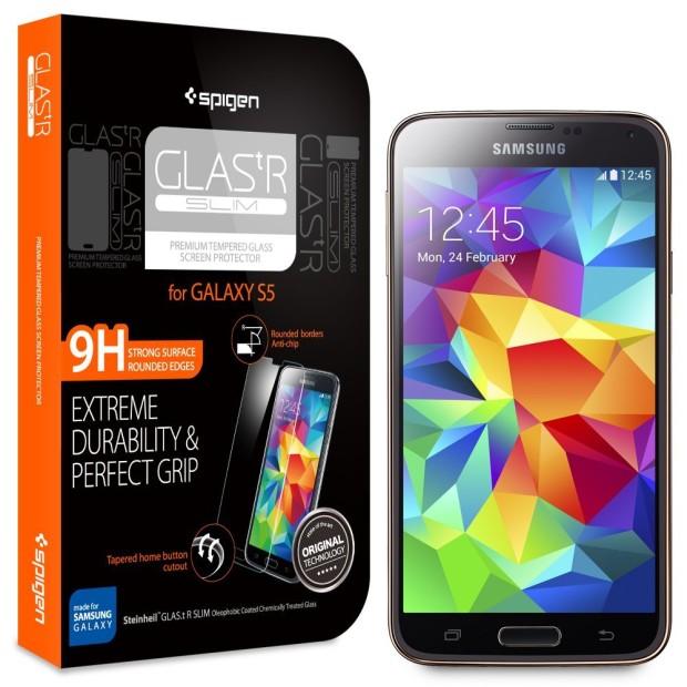 Защитная пленка Spigen Glas.tr Slim для Samsung Galaxy S5