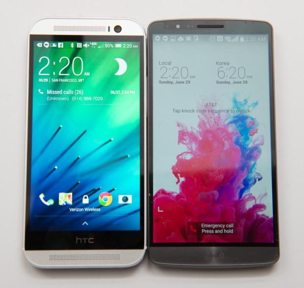 Сравнение LG G3 и HTC One M8
