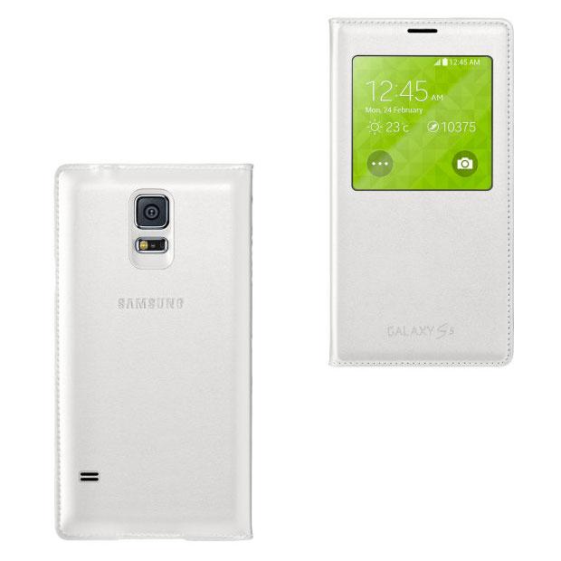 Чехол S View Flip Cover Wireless Charging для Galaxy S5