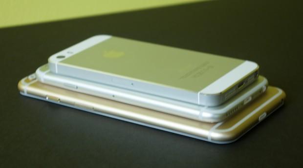 5,5-дюймовый, 4,7-дюймовый iPhone 6 и iPhone 5S