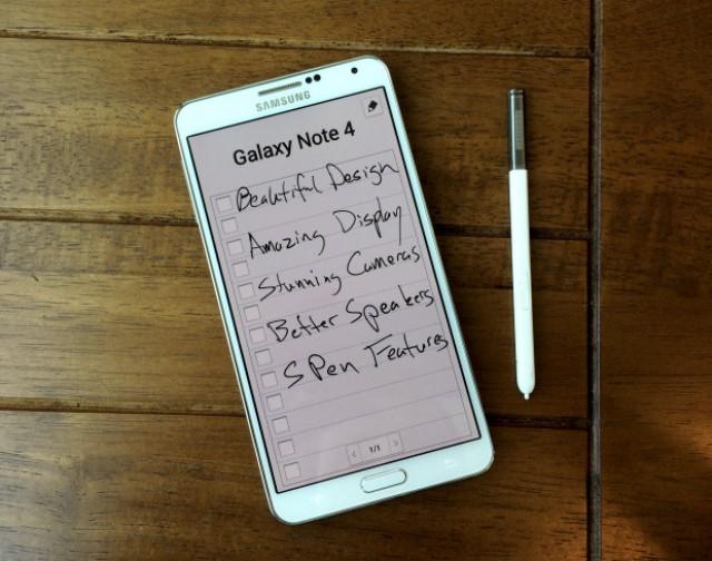 Особенности Galaxy Note 4