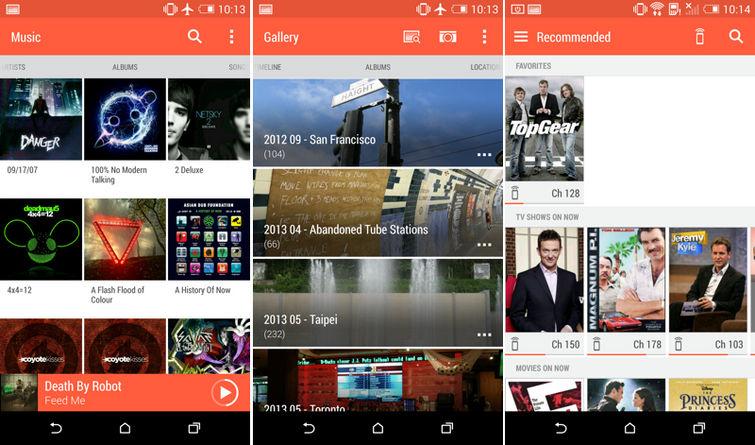 Приложения HTC One M8