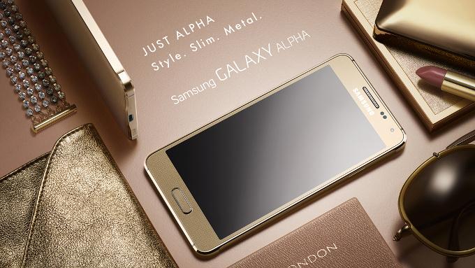 Металлический смартфон Samsung Galaxy Alpha