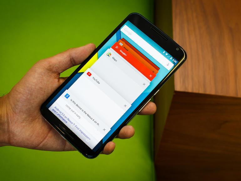 Обзорный режим Android 5