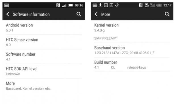 Android 5.0.1 для HTC One M8