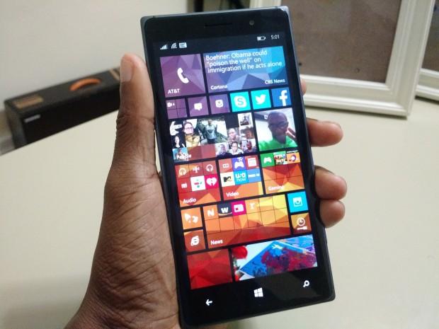 Windows Phone на Lumia 830