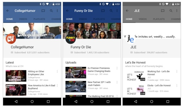 YouTube на Android 5