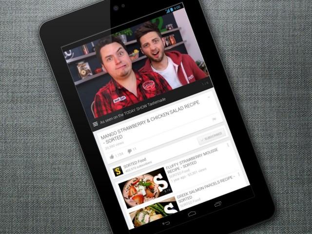 Youtube на Nexus 7