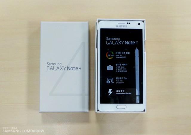 Обновление Galaxy Note 4