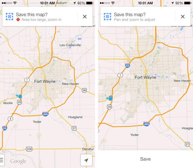Приложение Google Maps для iPhone
