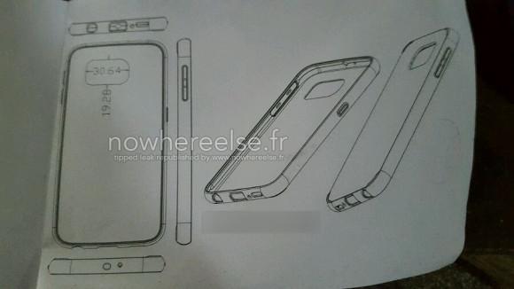 Чертеж Samsung Galaxy S6