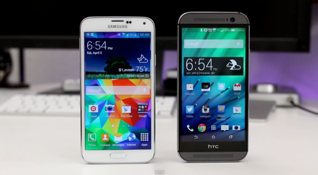 Samsung Galaxy S5 и HTC One M8
