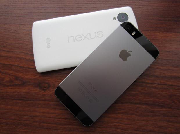 iPhone 5S и Nexus 5