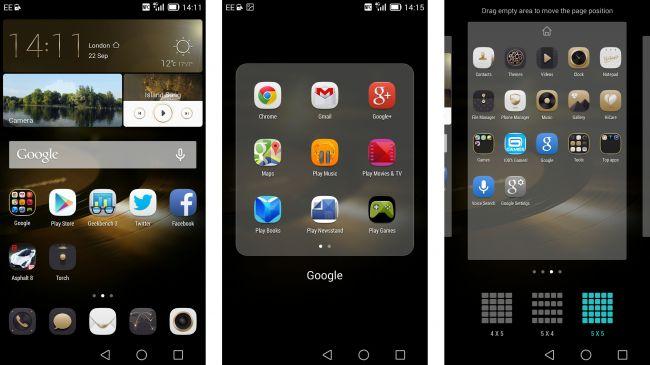 Интерфейс Emotion Huawei Ascend Mate 7