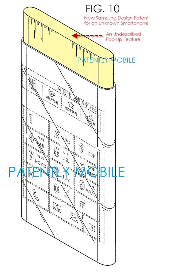 Патент Samsung на новые экраны Edge