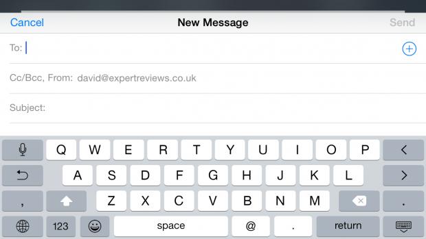 Сенсорная клавиатура iPhone 6 Plus