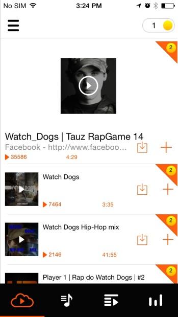 Трек-лист SoundCloud
