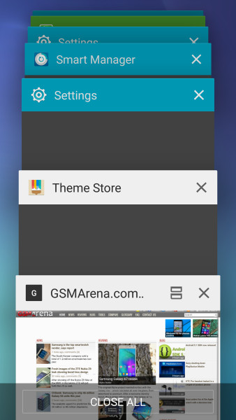 Выбор приложений на Galaxy S6