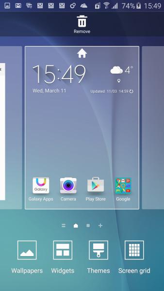 Настройка интерфейса Galaxy S6