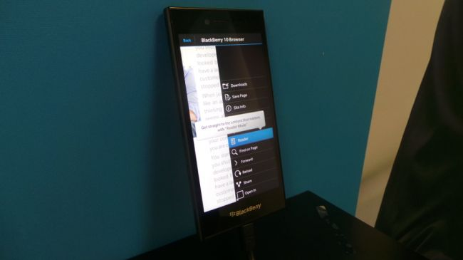 Новый Blackberry Leap