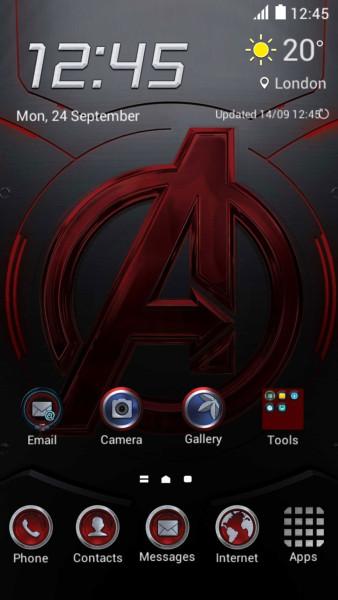Тема Мстители на Galaxy S6