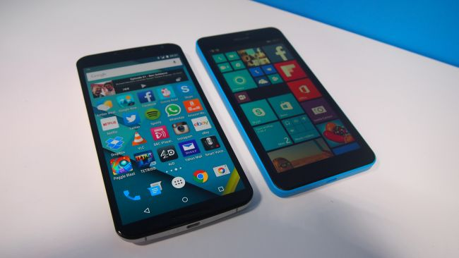 Nexus 6 и Microsoft Lumia 640 XL