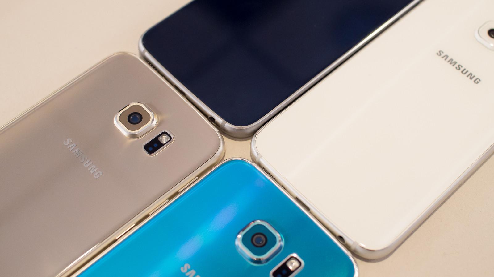 Samsung Galaxy S6 в четырех цветах