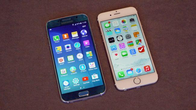 Samsung Galaxy S6 против iPhone 6