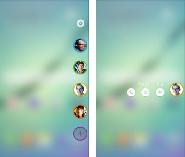 Панель Избранные Galaxy S6 Edge