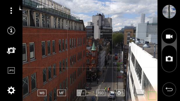 Интерфейс камеры LG G4