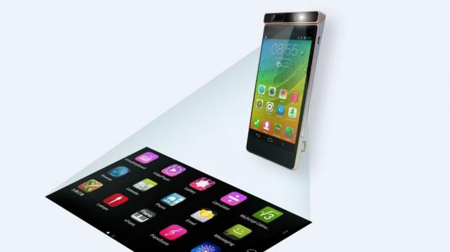 Концепт смартфона Lenovo с проектором