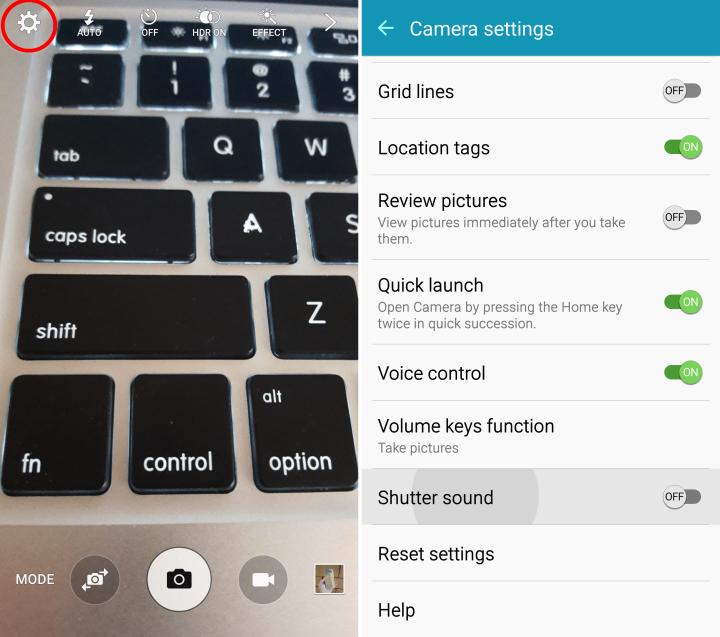 Отключаем звук затвора камеры Galaxy S6