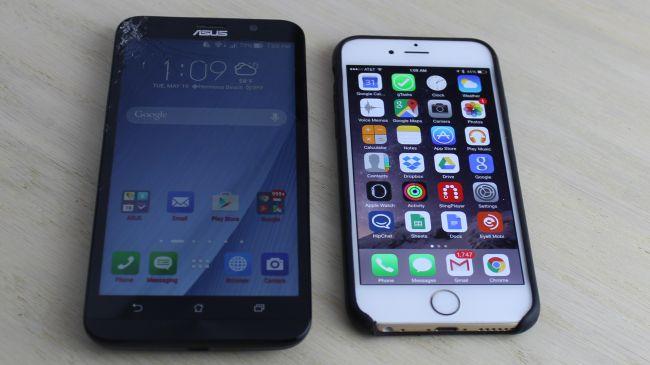 ASUS ZenFone 2 и Apple iPhone