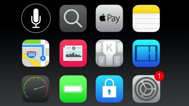 Плитка приложений iOS 9