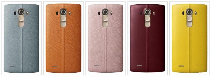 Разноцветные кожаные панели LG G4.01