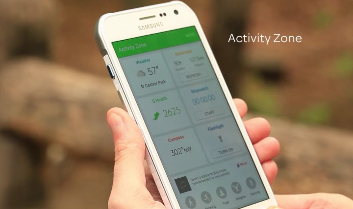 Samsung Galaxy S6 Active и Activity Zone