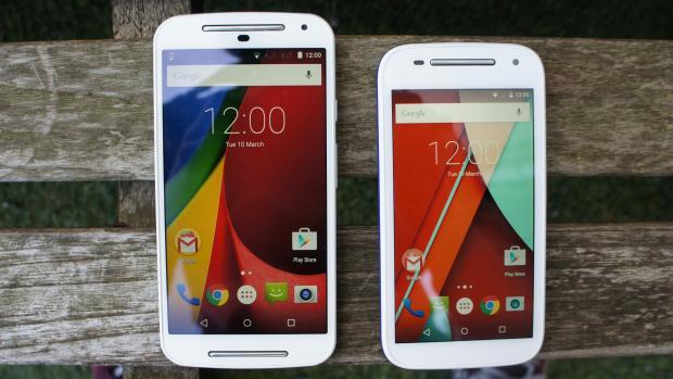 Motorola Moto G (2014) и Motorola Moto E (2015)