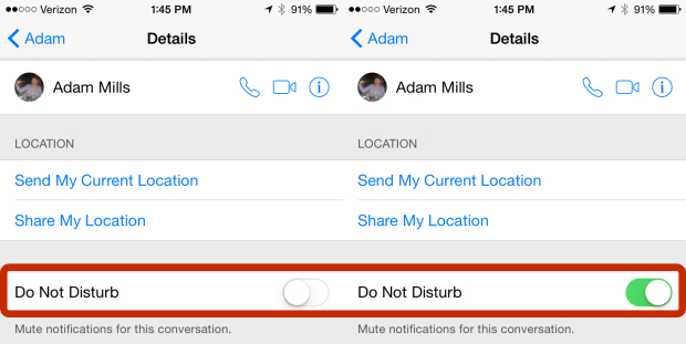 iMessage и режим не беспокоить на iPhone