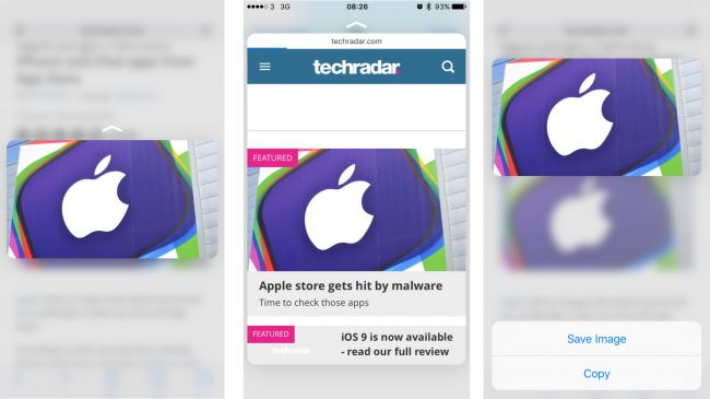 3D Touch на Apple iPhone 6S