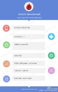 Galaxy A7 в AnTuTu