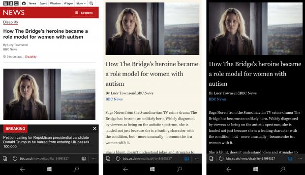 Режим Reading View на Windows 10 Mobile