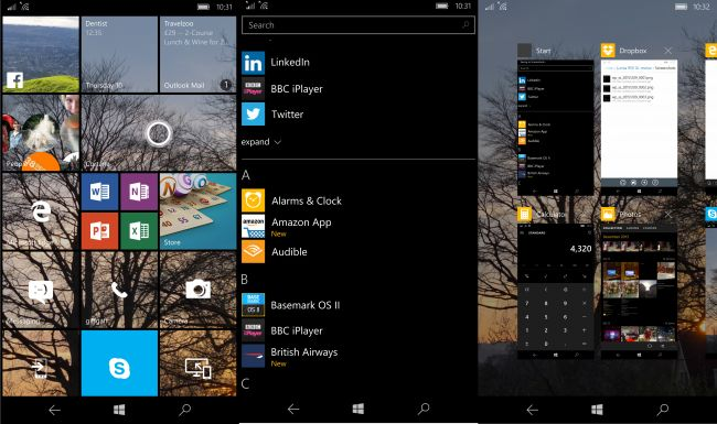 Windows 10 Mobile на Lumia 950 XL