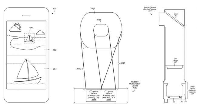 Патент двойной камеры iPhone 7