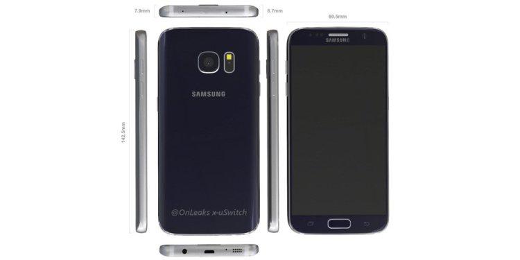 Фото-рендер Samsung Galaxy S7