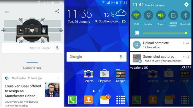 Интерфейс Samsung Galaxy Core Prime