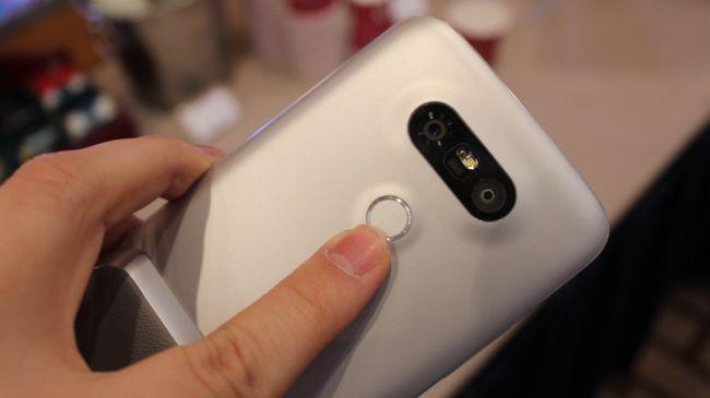 Сканер отпечатков пальцев LG G5