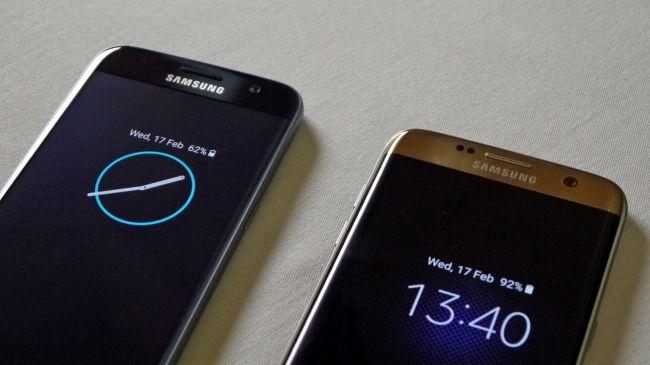 Часы и уведомления на Galaxy S7