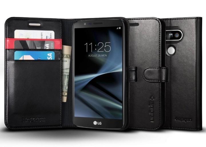 Чехол-бумажник Spigen Wallet Case для LG G5